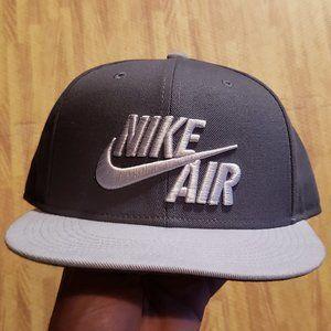 Nike Air Gray Snapback Hat Flat Brim OSFM OSFA